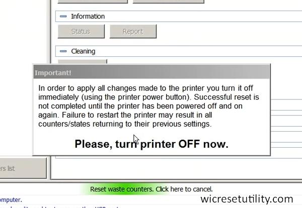 restart the printer